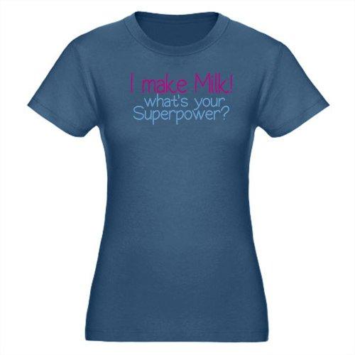 Cafepress I Make Milk Breastfeeding T-Shirt Organic Women'S Fitted T-Shirt Dark - L Galaxy front-289534