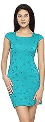 Texco Garments Women's A-Line Dress (18, Blue, M)