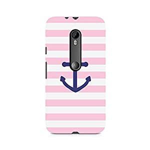 Ebby Pink Anchor Premium Printed Case For Moto G3