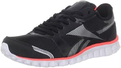 Reebok Women's Realflex Optimal Running Shoe,Black/Pure Silver/Vitamin C/White,8 M US