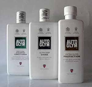 AutoGlym Bodywork Shampoo & Ultra Deep Shine 500ml & Extra Gloss Protect 325ml from AutoGlym