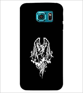 PrintDhaba Eagle D-2425 Back Case Cover for SAMSUNG GALAXY S6 (Multi-Coloured)