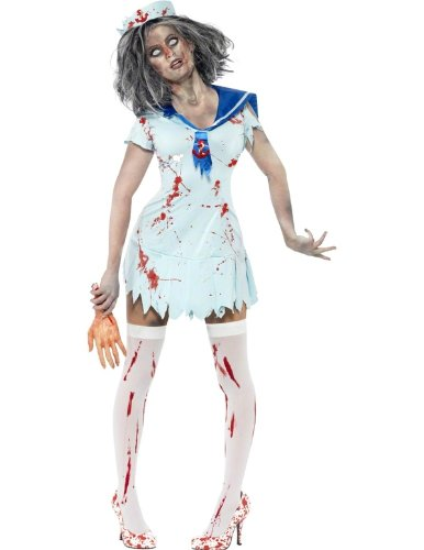 Smiffys Women's Zombie Sailor Costume