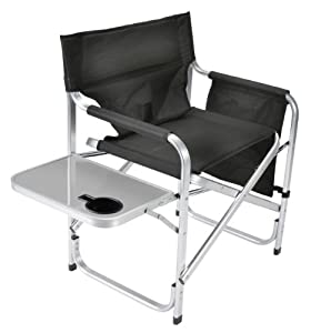 Faulkner Aluminum Director Chair With Folding Tray And Cup Holde