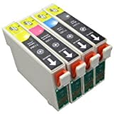 1x Set T1285 Compatible Ink Cartridges (with chip) for Epson Stylus S22 SX125 SX420W SX425W BX305F BX305FW SX445W SX130 SX435W SX235W Printers. Includes T1281 Black T1282 Cyan T1283 Magenta T1284 Yellow. FREE DELIVERY & VAT RECEIPT WITH EVERY ORDER!