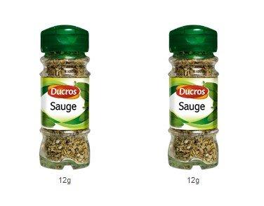 DUCROS - Poivres Herbes Epices - Herbes - Sauge - 12 g - lot de 2