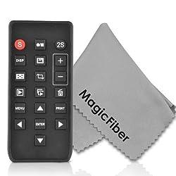 IR Wireless Remote Control for SONY Alpha NEX-7 NEX-5, SLT (A77 A65 A57 A55 A33), DSLR (A900 A850 A700 A580 A560 A550 A500 A450 A390 A380 A330 A290 A230) + Premium MagicFiber Microfiber Cleaning Cloth