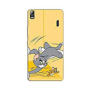 FIGHTING CAT & MOUSE BACK COVER FOR LENOVO A7000