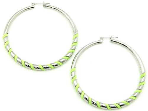 EARRING METAL FABRIC CORD GREEN Fashion Jewelry Costume Jewelry fashion accessory Beautiful Charms