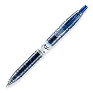 Pilot B2P - Bottle to Pen - Retractable Gel Roller Pens Made from Recycled Bottles, Dozen Box, Fine Point, Blue (31601)
