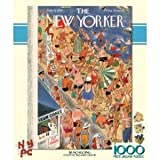 Beachgoing - New Yorker Magazine 1000 Piece Puzzle by New York Puzzle Company