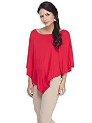 Femella Women's Poncho (DS-1599554-869_Red_Medium)