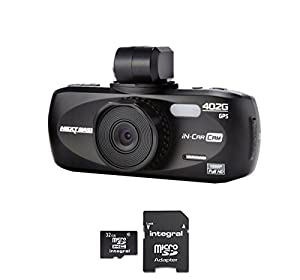NextBase iN-CAR CAM 402G Professional Car DVR Video Recorder with FREE 32GB Micro SD Card