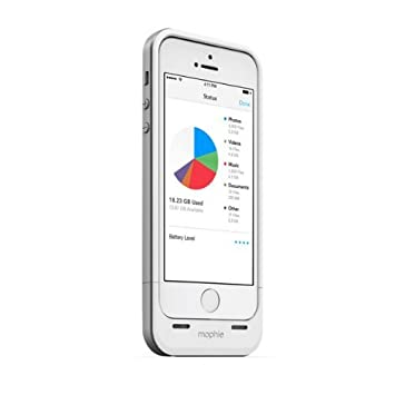 Mophie Space Pack Iphone 5s 5 Case With 32gb Extra Storage Extra Battery Life White Color New Frgjdx18