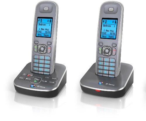 BT Sonus 1500 DECT Cordless Phone with Answer Machine (Digital Enhanced Cordless Telephone) Caller Display Model - Twin (Duo) image