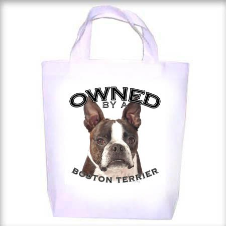Boston Terrier BRINDLE Owned Shopping - Dog Toy - Tote Bag