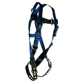 Fall Tech Contractor Series Safety Harness 1 D-Ring T - B Legs -3X