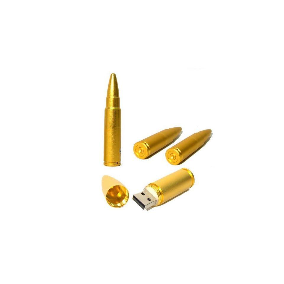 8GB Gold Bullet Shaped Designer USB Flash Drive
