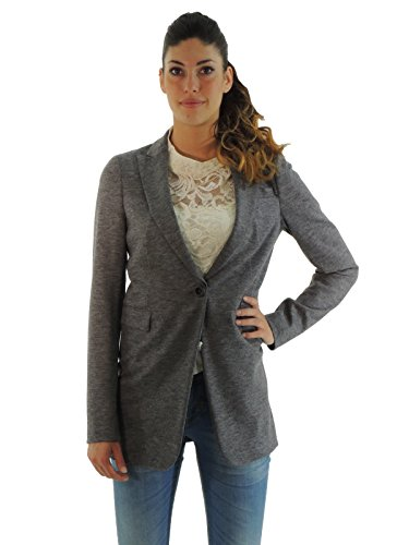 Liu Jo giacca donna in lana vergine monopetto collo revers P65023J0926 (S, GRIGIO)