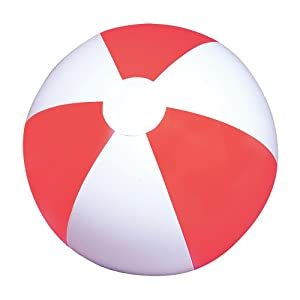 Red and White Inflatable Beach Balls