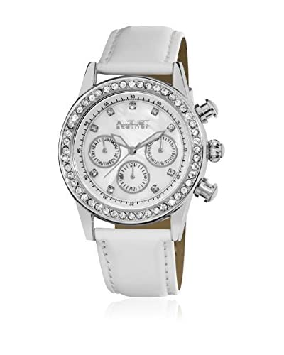 August Steiner Reloj con movimiento japonés Woman AS8018SSW Blanco 42 mm39 mm x 39 mm