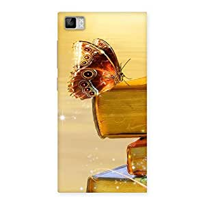 Impressive Book Butterfly Back Case Cover for Xiaomi Mi3