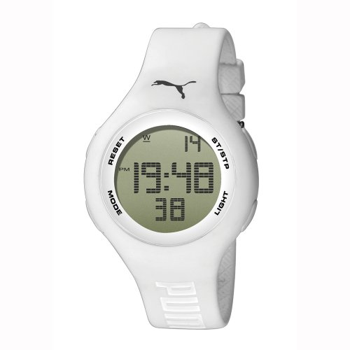 PUMA Unisex PU910801010 Loop White Digital Watch