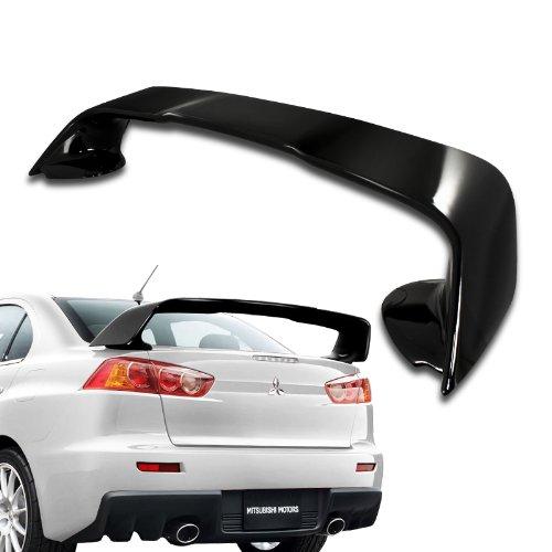 2008 - 2011 Mitsubishi Lancer EVO X ABS Plastic Black Trunk Spoiler (Mitsubishi Lancer Evo Spoiler compare prices)