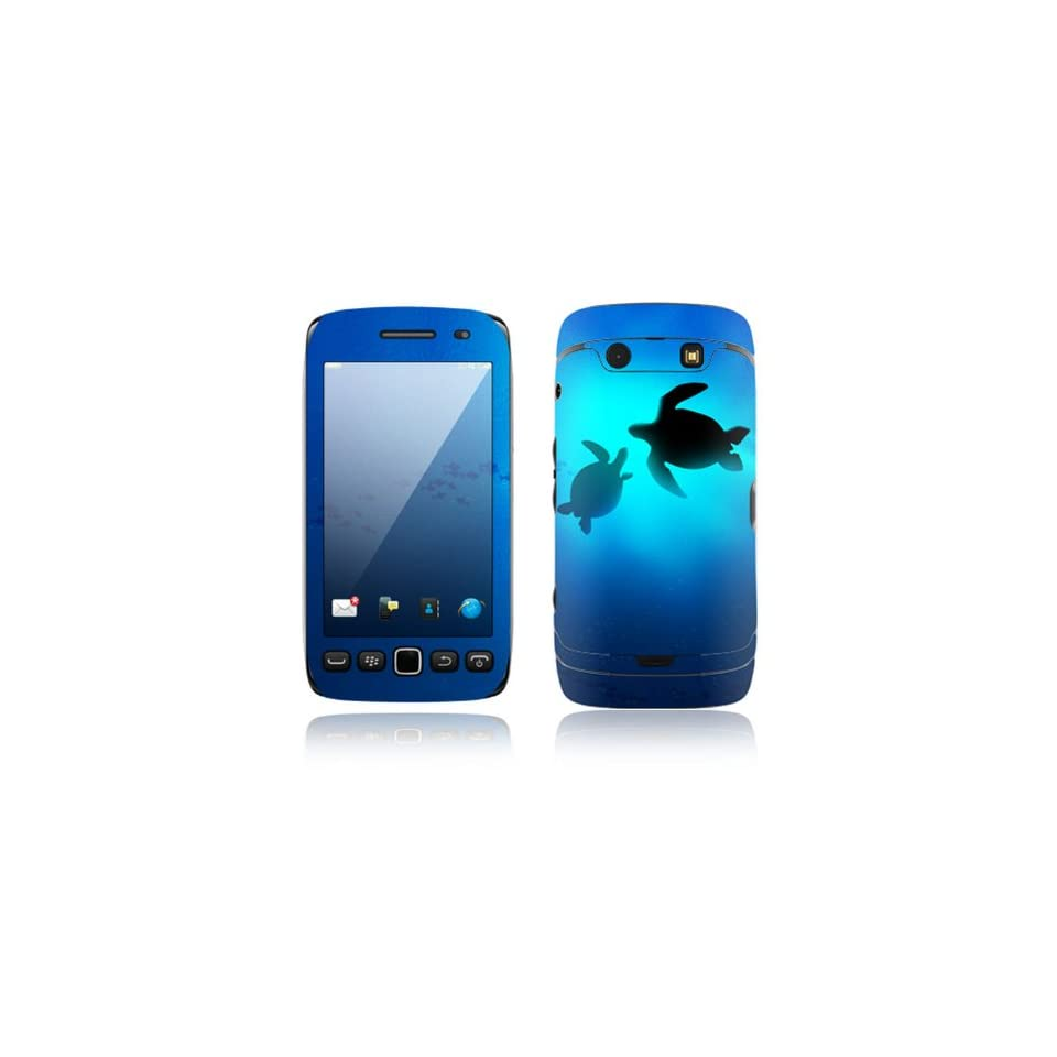 Sea Turtle Into the Deep Design Decorative Skin Cover Decal Sticker for BlackBerry Torch 9850 9860 Cell Phone