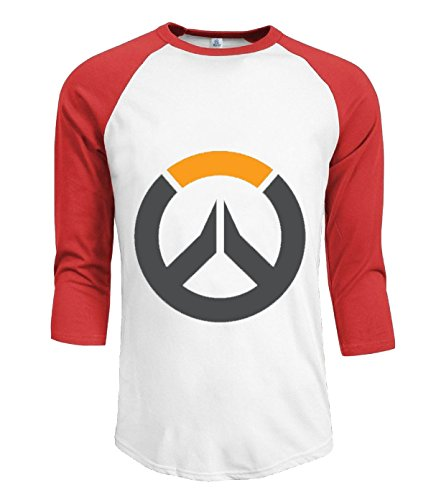 ta-dey-overwatch-ow-logo-blizzard-entertainment-tshirts-for-mens-l-red-3-4-sleeves