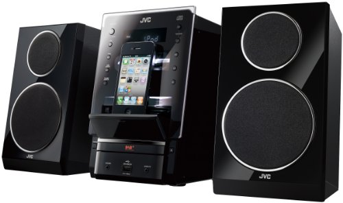Review and Buying Guide of Buying Guide of  JVC Flip Dock DAB Micro System Speaker for iPhone/iPod/USB/CD Player