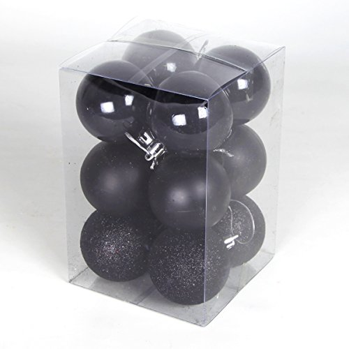 12-assorted-finish-shatterproof-home-baubles-decorations-black-60mm