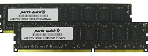 8GB (2 X 4GB) Memory Upgrade for HP Pavilion p6-2114d DDR3 PC3-10600 1333MHz Desktop DIMM RAM (PARTS-QUICK BRAND)
