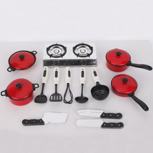 13 sets pots and pans kitchen cookware for children play house toys simulation ebay. Black Bedroom Furniture Sets. Home Design Ideas