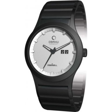 Obaku By Ingersoll Gents White Dial Bracelet Watch