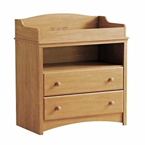 Sweet Morning Collection Changing Table In Florence Maple Finish By South Shore Furniture