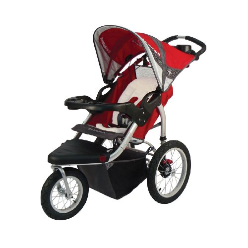 Schwinn Turismo Swivel Single Jogger, Red/Gray