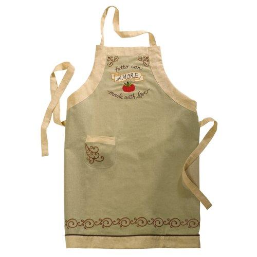 Grasslands Road Cucina Fatto Con Amore Made with Love Embroidered Tomato Apron