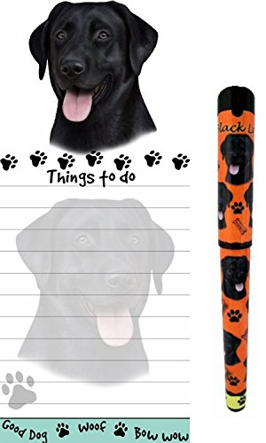 Black Lab Pet Lovers Magnetic To-Do List Pad and Easy Glide Gel Pen