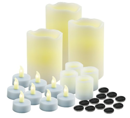 Mark Feldstein 27 Piece Vanilla Scented Flameless Led Scented Wax Candles
