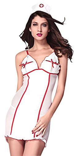 Anmengte Halloween Costume Naughty Nurse Uniform Lingerie Sets (Homemade Halloween Football Costumes)
