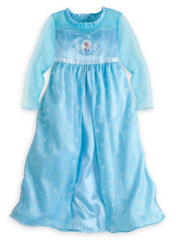 Disney Store Frozen Princess Elsa Nightgown Girls Size Xs 4 (4T)