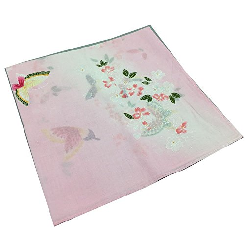Forlisea Women Flower Print Handkerchief Cotton Hanky 1