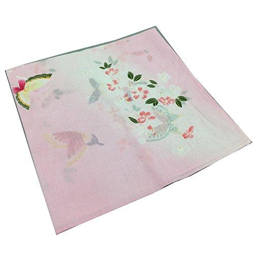 Forlisea Women Flower Print Handkerchief Cotton Hanky 1
