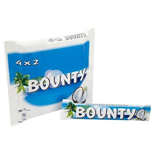 Bounty Chocolat Au Lait 4 X 57G - Paquet de 2