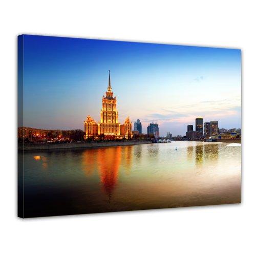 "Bilderdepot24 Leinwandbild ""Moskau - Russland"" - 70x50 cm 1 teilig - fertig gerahmt, direkt vom Hersteller"