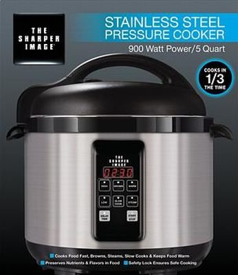 Emson Sharper Image 8149SI Stainless-Steel 5-Quart Pressure Cooker from Emson