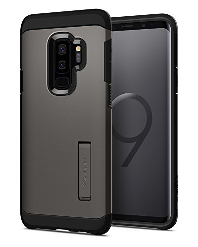 Spigen Tough Armor Galaxy S9 Plus Case with Reinforced Kickstand and Heavy Duty Protection and Air Cushion Technology for Samsung Galaxy S9 Plus (2018) - Gunmetal [+Peso($32.00 c/100gr)] (US.AZ.15.99-0-B0789S1J42.392365)