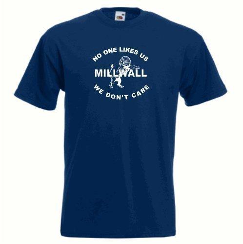 T-Shirt Millwall London FC Club di calcio 'Nobody Likes Us' Maglia - Grande- (tutte le dimensioni disponibili)