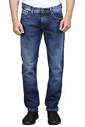 Foxtar Men's Jeans (N30FJA001_Blue_30)